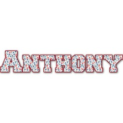 Hockey 2 Name/Text Decal - Large (Personalized)