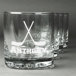 Hockey 2 Whiskey Glasses (Set of 4) (Personalized)