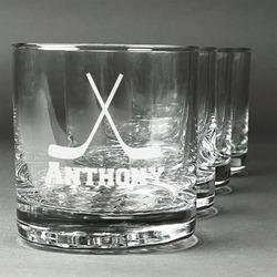 Hockey 2 Whiskey Glasses (Set of 4) (Personalized)