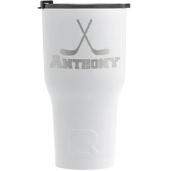 Hockey 2 RTIC Tumbler - White (Personalized)