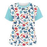Hockey 2 Women's Crew T-Shirt (Personalized)