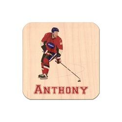 Hockey 2 Genuine Wood Sticker (Personalized)
