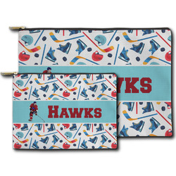 Hockey 2 Zipper Pouch (Personalized)