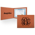 Interlocking Monogram Leatherette Certificate Holder (Personalized)