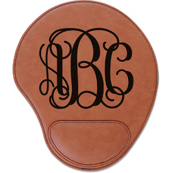 Interlocking Monogram Leatherette Mouse Pad with Wrist Support (Personalized)