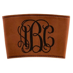Interlocking Monogram Leatherette Cup Sleeve (Personalized)