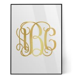 Interlocking Monogram Foil Print (Personalized)