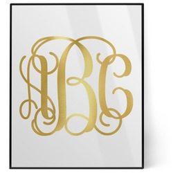Interlocking Monogram 8x10 Foil Wall Art - White (Personalized)