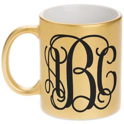 Interlocking Monogram Gold Mug (Personalized)