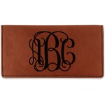 Interlocking Monogram Leatherette Checkbook Holder (Personalized)