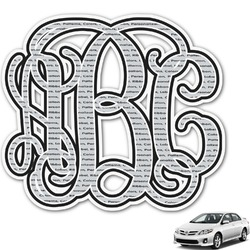 Interlocking Monogram Monogram Car Decal (Personalized)