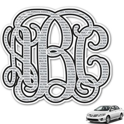 Interlocking Monogram Monogram Car Decal (Personalized)