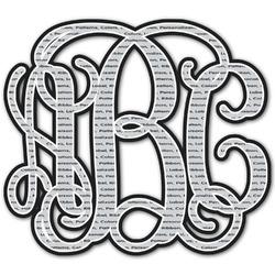 Interlocking Monogram Monogram Decal - Custom Sizes (Personalized)