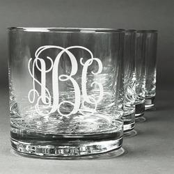 Interlocking Monogram Whiskey Glasses (Set of 4) (Personalized)