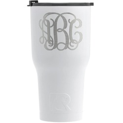 Interlocking Monogram RTIC Tumbler - White - Engraved Front (Personalized)