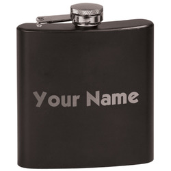 Block Name Black Flask Set (Personalized)