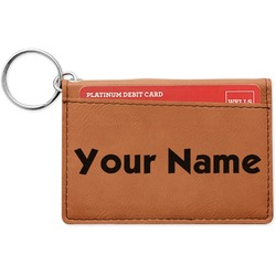 Block Name Leatherette Keychain ID Holder (Personalized)
