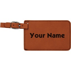 Block Name Leatherette Luggage Tag (Personalized)