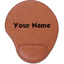 Block Name Leatherette Mouse Pad with Wrist Support (Personalized)