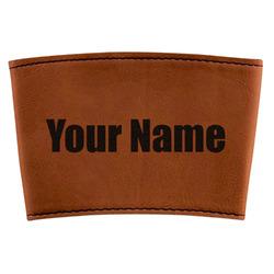 Block Name Leatherette Mug Sleeve (Personalized)