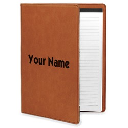 Block Name Leatherette Portfolio with Notepad (Personalized)