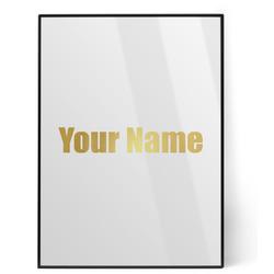 Block Name Foil Print (Personalized)