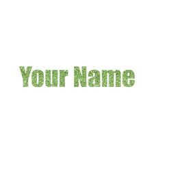 Block Name Glitter Iron On Transfer- Custom Sized (Personalized)