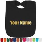Block Name Foil Toddler Bibs (Select Foil Color) (Personalized)