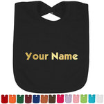Block Name Foil Baby Bibs (Select Foil Color) (Personalized)