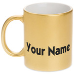 Block Name Gold Mug (Personalized)