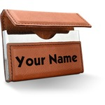 Block Name Leatherette Business Card Case (Personalized)