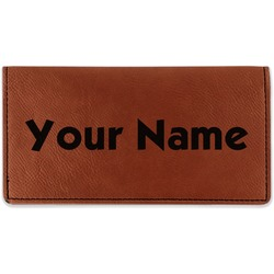 Block Name Leatherette Checkbook Holder (Personalized)