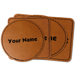 Block Name Faux Leather Iron On Patch (Personalized)