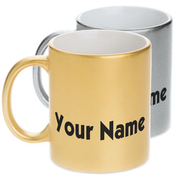 Block Name Metallic Mug (Personalized)