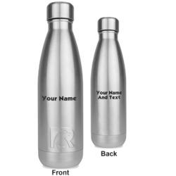 Block Name RTIC Bottle - Silver - Engraved Front & Back (Personalized)
