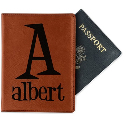 Name & Initial Leatherette Passport Holder (Personalized)