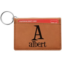 Name & Initial Leatherette Keychain ID Holder (Personalized)