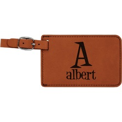 Name & Initial Leatherette Luggage Tag (Personalized)