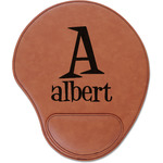 Name & Initial Leatherette Mouse Pad with Wrist Support (Personalized)