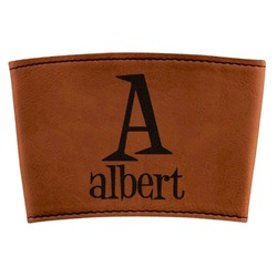 Name & Initial Leatherette Mug Sleeve (Personalized)