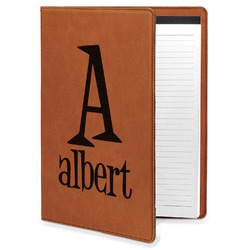 Name & Initial Leatherette Portfolio with Notepad (Personalized)