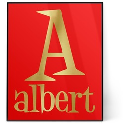 Name & Initial 8x10 Foil Wall Art - Red (Personalized)