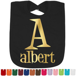Name & Initial Foil Baby Bibs (Select Foil Color) (Personalized)