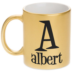 Name & Initial Gold Mug (Personalized)
