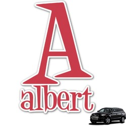 Name & Initial Graphic Car Decal (Personalized)
