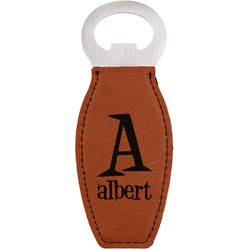 Name & Initial Leatherette Bottle Opener (Personalized)