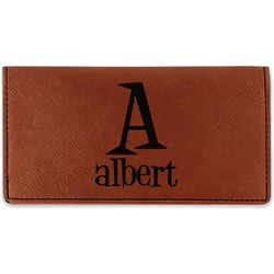 Name & Initial Leatherette Checkbook Holder (Personalized)