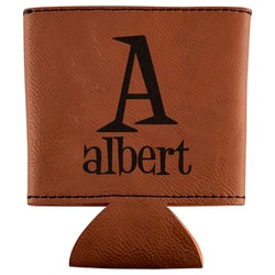Name & Initial Leatherette Can Sleeve (Personalized)