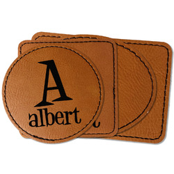 Name & Initial Faux Leather Iron On Patch (Personalized)
