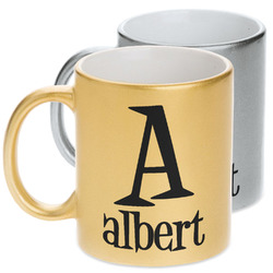 Name & Initial Metallic Mug (Personalized)